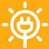 Ícone geração de energia fotovoltaica