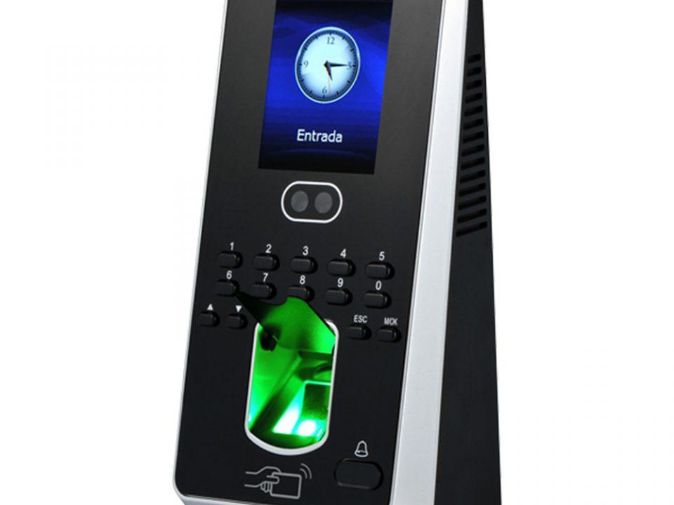 Controlador de acesso com biometria digital e facial SS710